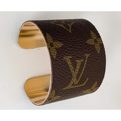 Repurposed LV Cuff Bracelets