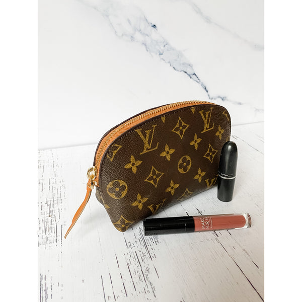 Repurposed Louis Vuitton Cosmetic Pouch