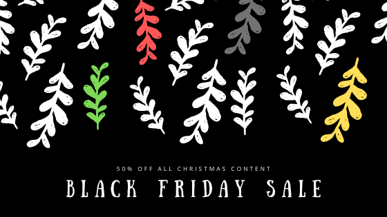 Black Friday Sale on all Christmas and Advent Content on AndrewKooman.com