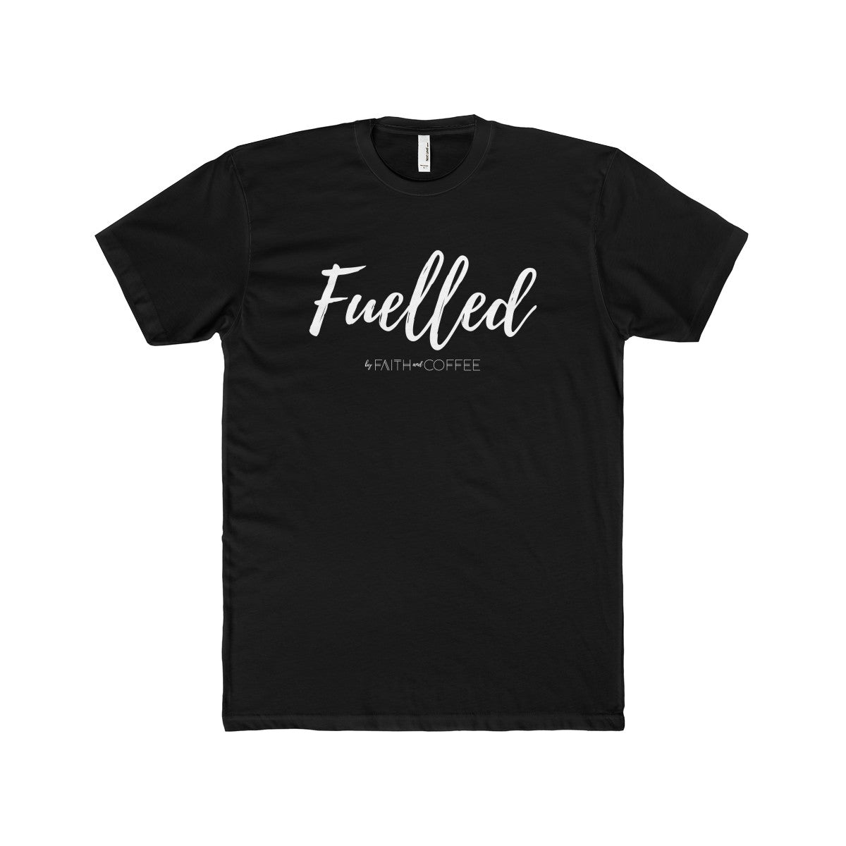 Faith + Coffee - Men's Cotton Crew Tee