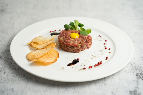 NOLA Blends Dark Truffle Balsamic & Beef Tartare