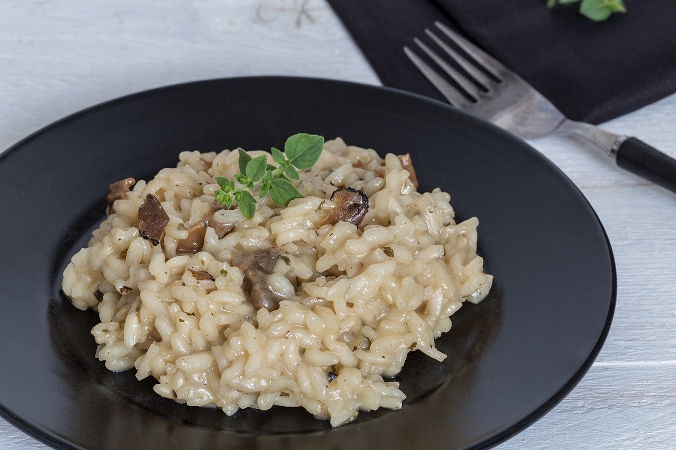 White Truffle Risotto and Mushrooms