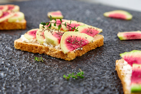 Watermelon Radish Toast