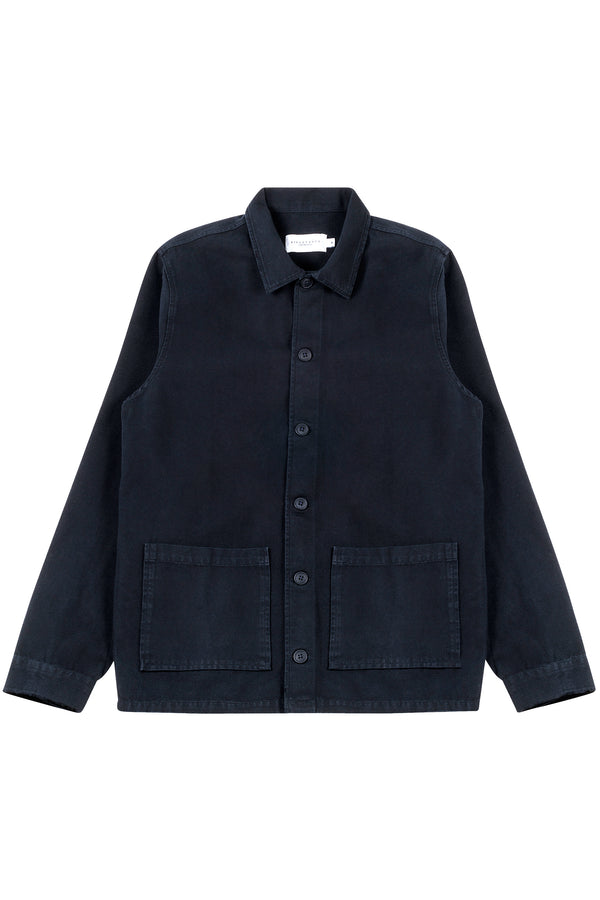 S'Arraco Shirt, Dark Navy Blue, Canvas Shirt, Skjorte, Jakke, Appearance - Appearance
