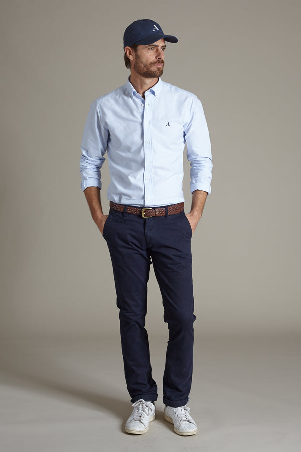 Primary Oxford Shirt, Blue Striped, Oxford Shirt, Skjorte, Appearance - Appearance