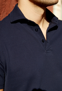 The Sollér Polo Shirt, Dark Navy Blue