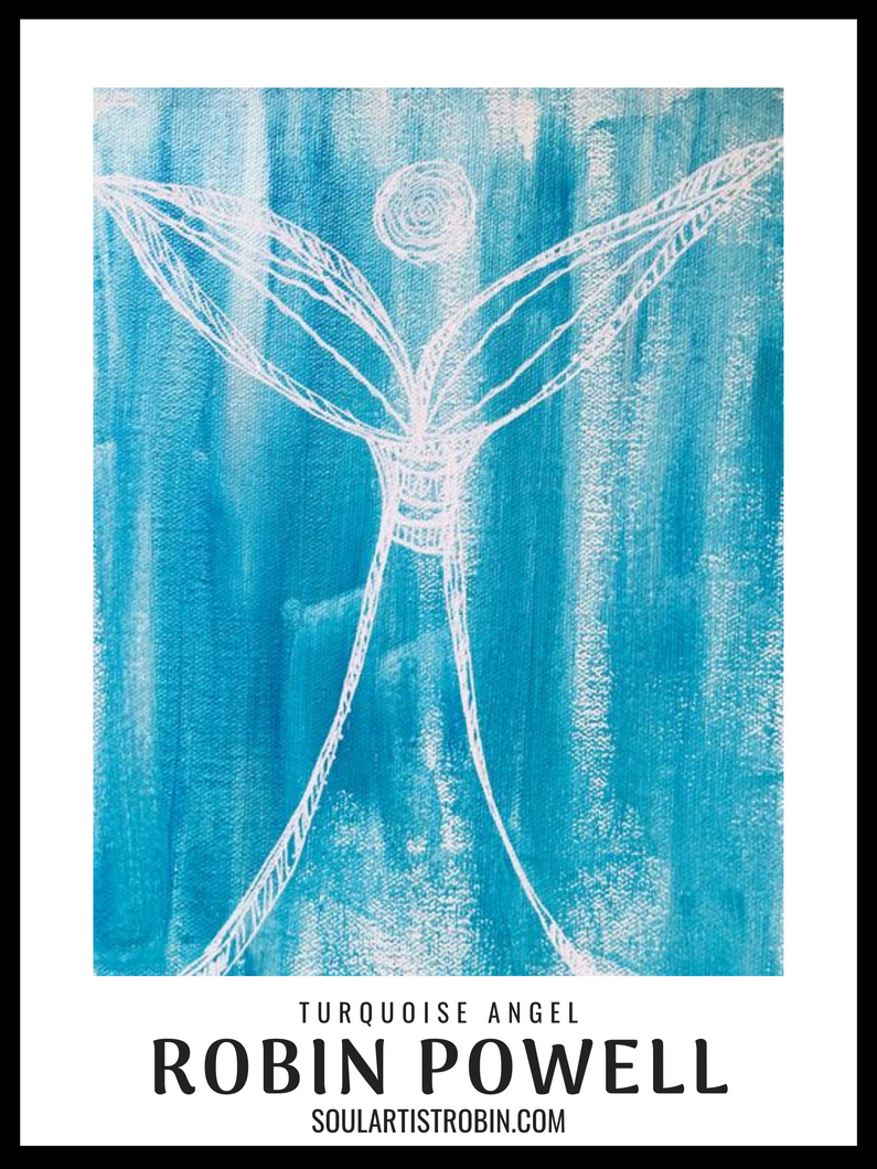 Turquoise Healer Angel - Giclée Quality Poster