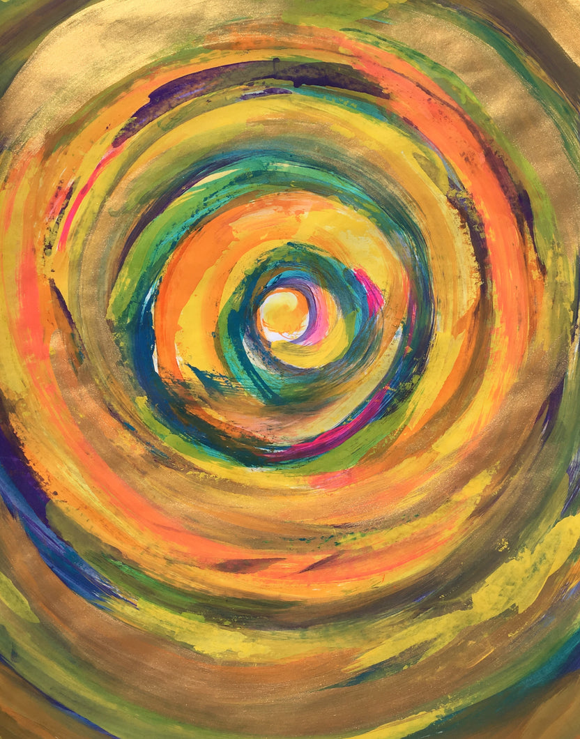 Golden Vortex Sacred Spiral