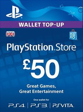 £50 PSN PlayStation Network Card UK