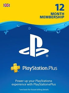PS Plus 12 Month Membership UK