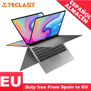 "Teclast F6 Plus Laptop Intel Gemini Lake N4100 Quad Core 8GB RAM 256GB SSD Windows10 360 Rotating Touch Screen 13.3"" Notebook PC"