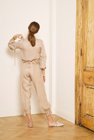 Ruffled Belt Pants