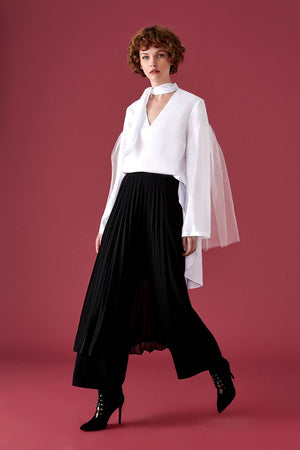 Pants with Chiffon Skirt