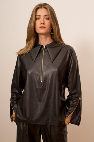 Overshirt with Zippers