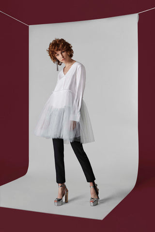 Seli Blouse with Tulle
