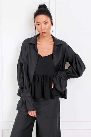 Ruffle Sleeved Overshirt