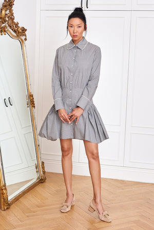 Shirtdress with Pearl Details