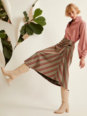 Folded Drape Skirt (4920761909350)