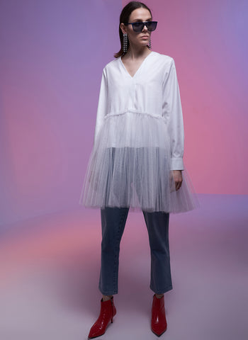Seli Blouse with Tulle (4953780748390)