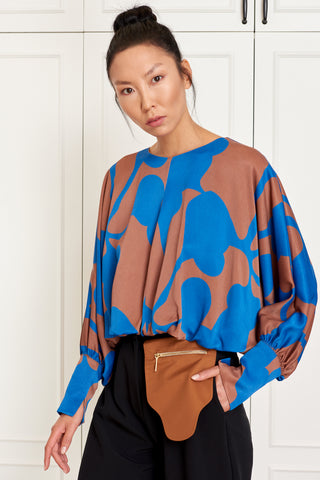 Cropped Balloon Blouse (4942468087910)