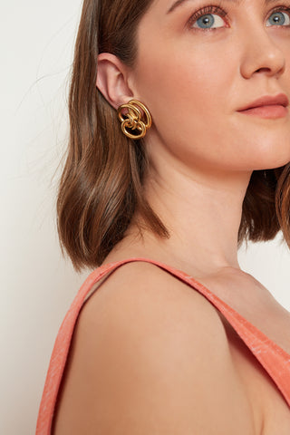 Seasons & Stories Givenchy Gold Plated Earrings (4723695059046)