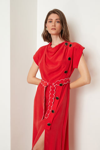 Draped Neck Dress (4710662471782)