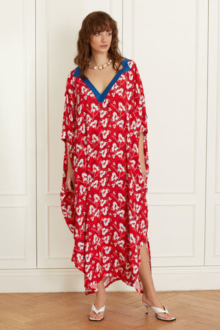 Caftan with Cut Out Neck