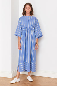 Blue Striped Dress (4909245202534)