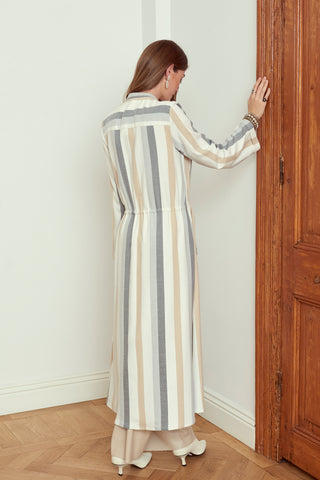Striped Robe-de-Chambre
