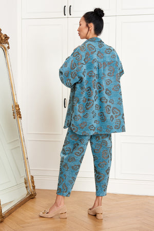 Blue Leopard Pants
