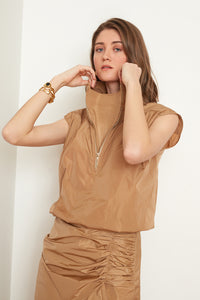 Sleeveless Turtleneck Blouse