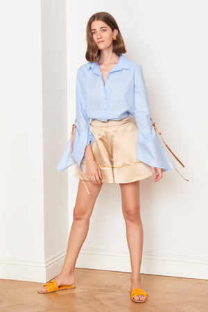 Beige Satin Shorts (4887144857702)