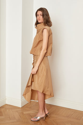 Draped Asymmetric Skirt (4672518914150)