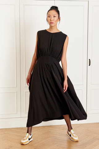 Pleated Sleeveless Dress (4942473986150)