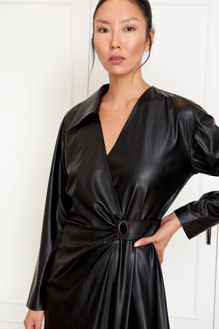 Draped Wrap Dress (4951578771558)