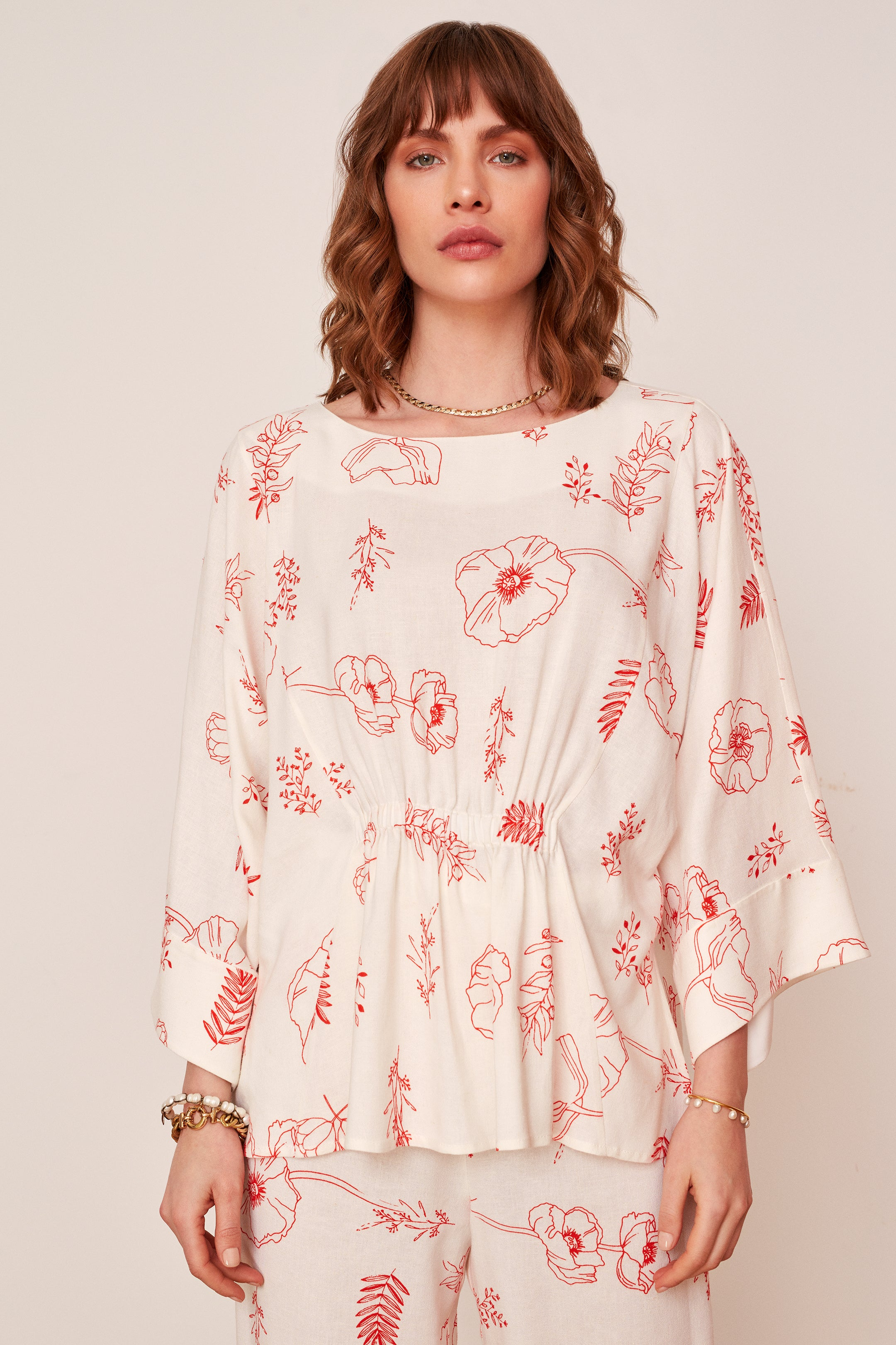 Linen Oversized Blouse (4576453132390)