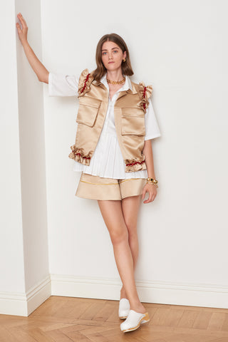 Ruffled Satin Vest (4888565645414)