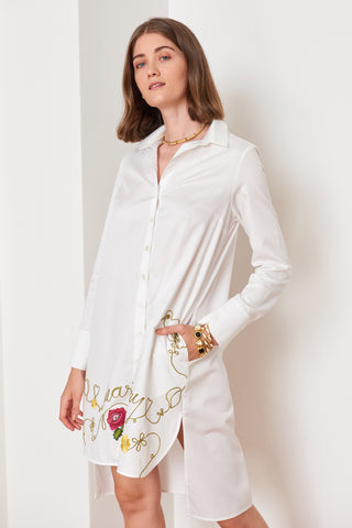 Embroidered Shirtdress (4886515712102)