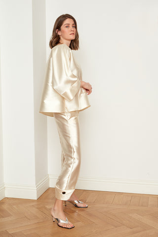 Satin Oversized Blouse