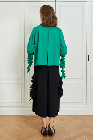 Ruffled A Line Jacket (4925570646118)