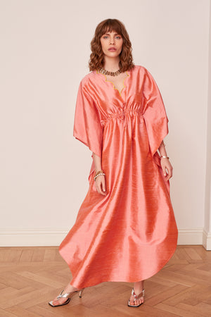 Scalloped Collar Caftan