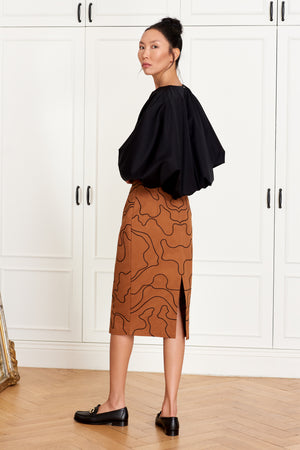 Pencil Skirt with Embroidery (4946579652710)