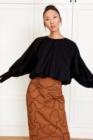 Cropped Balloon Blouse (4946564579430)