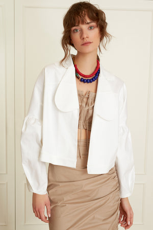 Oversized Jacket with Abstract Collars