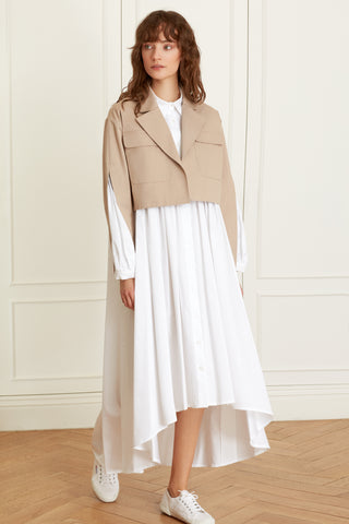 Crop Jacket with Blossom Sleeves