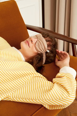 Quilted Silk Eye Mask