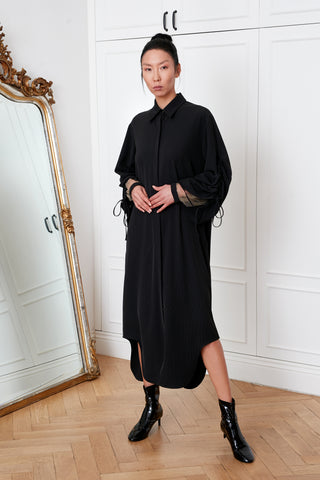 Shirtdress with Adjustable Sleeves