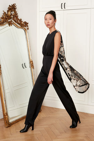 Black Tulle Jumpsuit