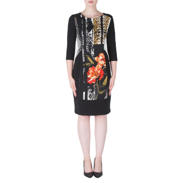 4424570164b Joseph Ribkoff br Black Vanilla Orange Dress - Bliss in Inverloch Online