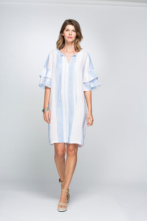 d52e72fac5a Hammock and Vine  br  Chambray Print Stripe Summer Dress - Bliss in Inverloch  Online ...
